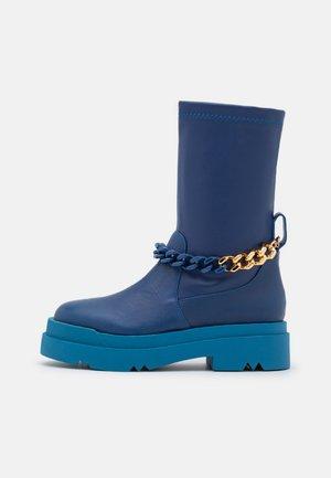 LEONIE HANNE - Platform boots - blue
