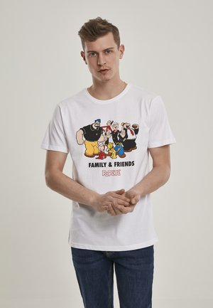 POPEYE FAMILY & FRIENDS  - T-shirt z nadrukiem - white