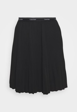 SHORT MICRO PLEAT SKIRT - Mini skirt - black