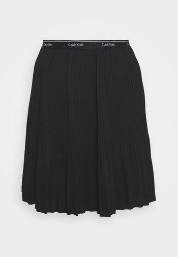 SHORT MICRO PLEAT SKIRT - Mini skirt - black