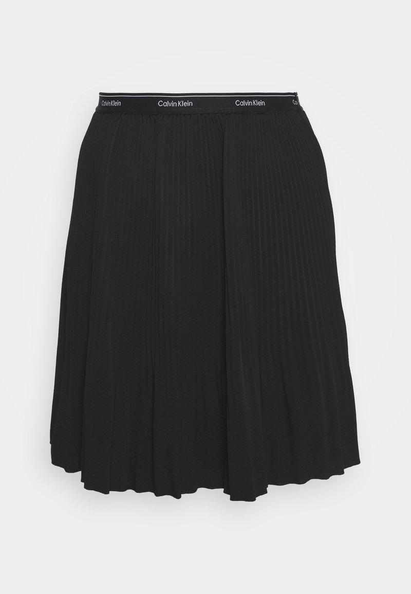 Calvin Klein - SHORT MICRO PLEAT SKIRT - Mini skirt - black