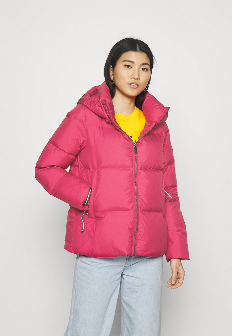 Tommy Hilfiger - PUFFY HOODED - Doudoune - royal magenta