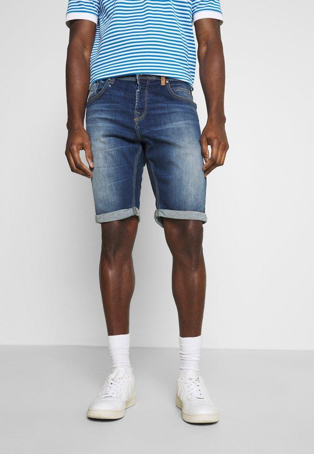 CORVIN - Denim shorts - dark blue denim