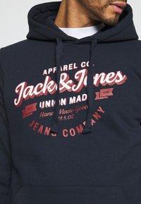 Jack & Jones - JJDENIM LOGO HOOD - Sweatshirt - navy blazer - 5