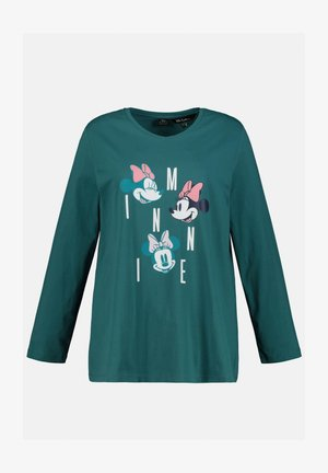 DISNEY'S MINNIE MOUSE - Long sleeved top - dunkles tannengrün
