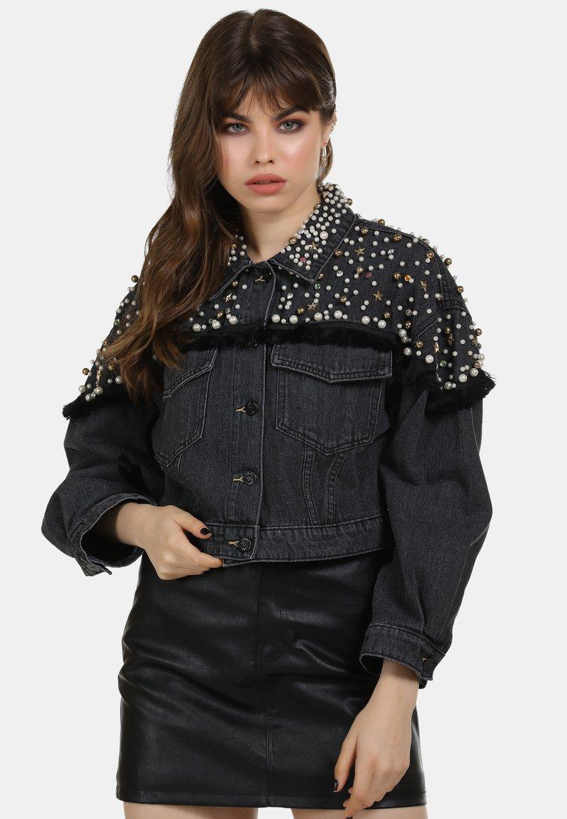 myMo ROCKS - Denim jacket - black