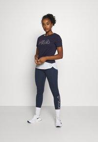 Fila - LADAN TEE - Print T-shirt - black iris - 1