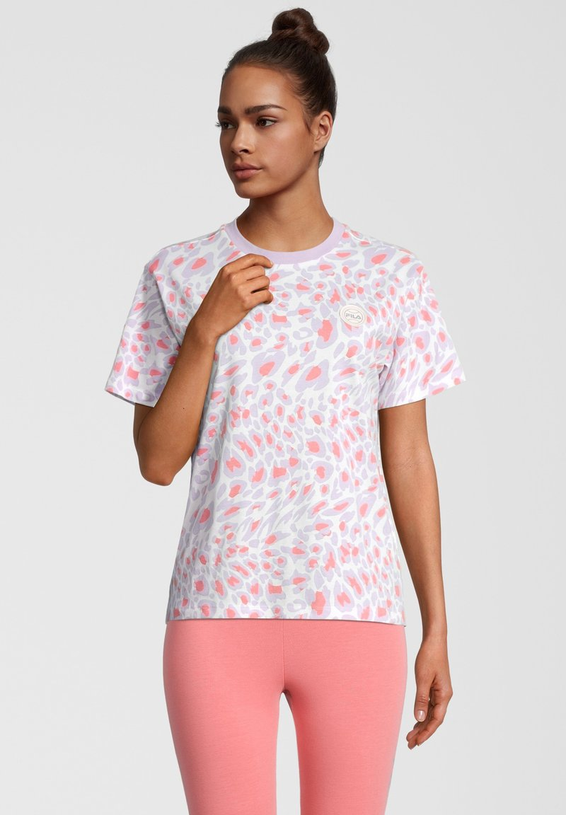 Fila - Print T-shirt - orchid petal leo allover