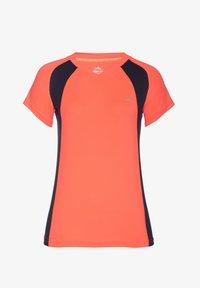 neon orange/navy