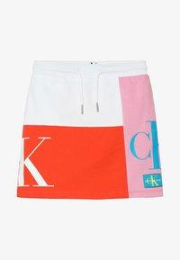 Calvin Klein Jeans - MONOGRAM PATHCHWORK LIGHT SKIRT - Mini skirt - multi - 2