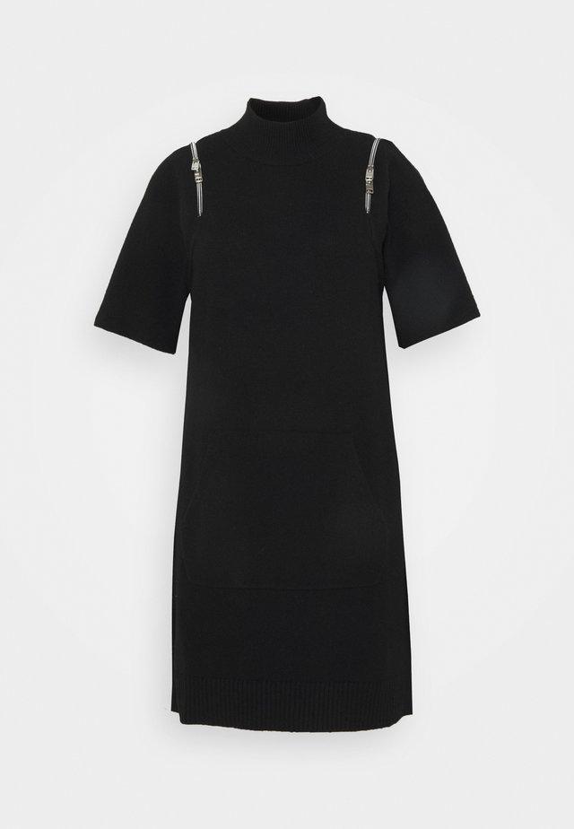 DIMI DRESS - Pletené šaty - black