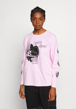 CUPID IS STUPID LONG SLEEVE TEE - Bluzka z długim rękawem - pink