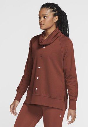 DRY GET FIT COWL - Sweatshirt - firewood orange/white