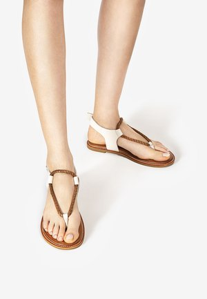 T-bar sandals - mntrl bone nbn