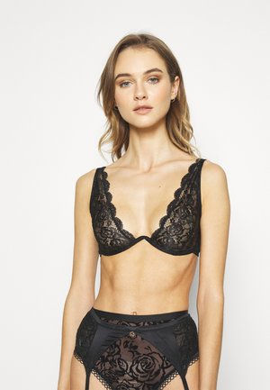 HARNESS BRA - Underwired bra - black