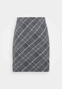 Basic mini skirt with slit - Mini skirt - black/multi-coloured