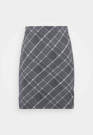 Basic mini skirt with slit - Miniskjørt - black/multi-coloured