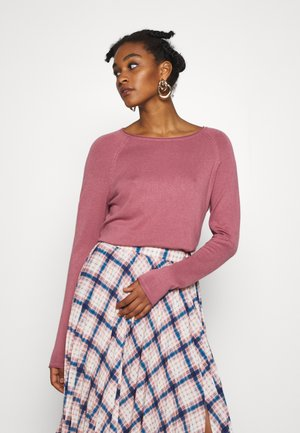 VMNELLIE GLORY LONG BLOUSE  - Jumper - mesa rose