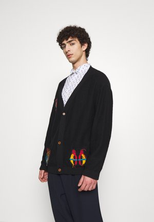 FISHERMAN CARDI - Kardigan - black