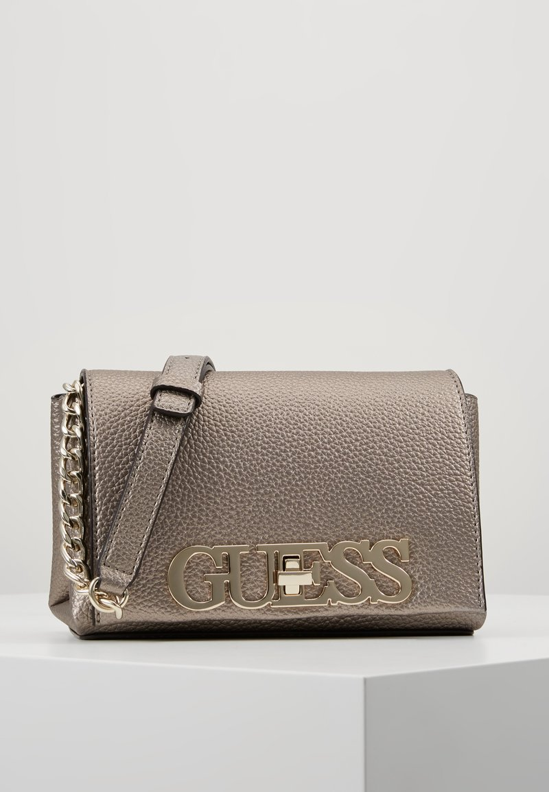 Guess - UPTOWN CHIC MINI XBODY FLAP - Bandolera - pewter