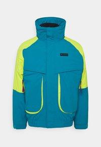 Columbia - POWDER KEGINTERCHANGE - Kurtka narciarska - fjord blue/bright chartreuse - 5