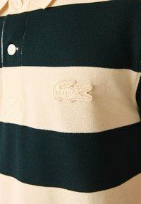 Lacoste - Polo shirt - beige / vert fonce - 5