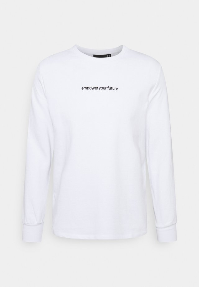 FIRE ICE LONG SLEEVE - Maglietta a manica lunga - white