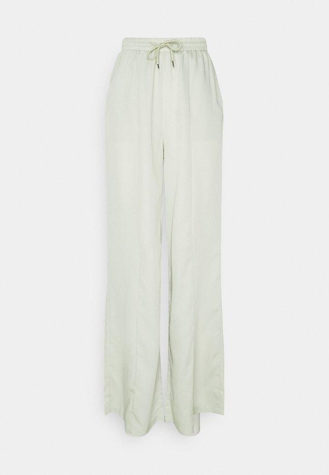 WIDE LEG TROUSER - Trousers - sage