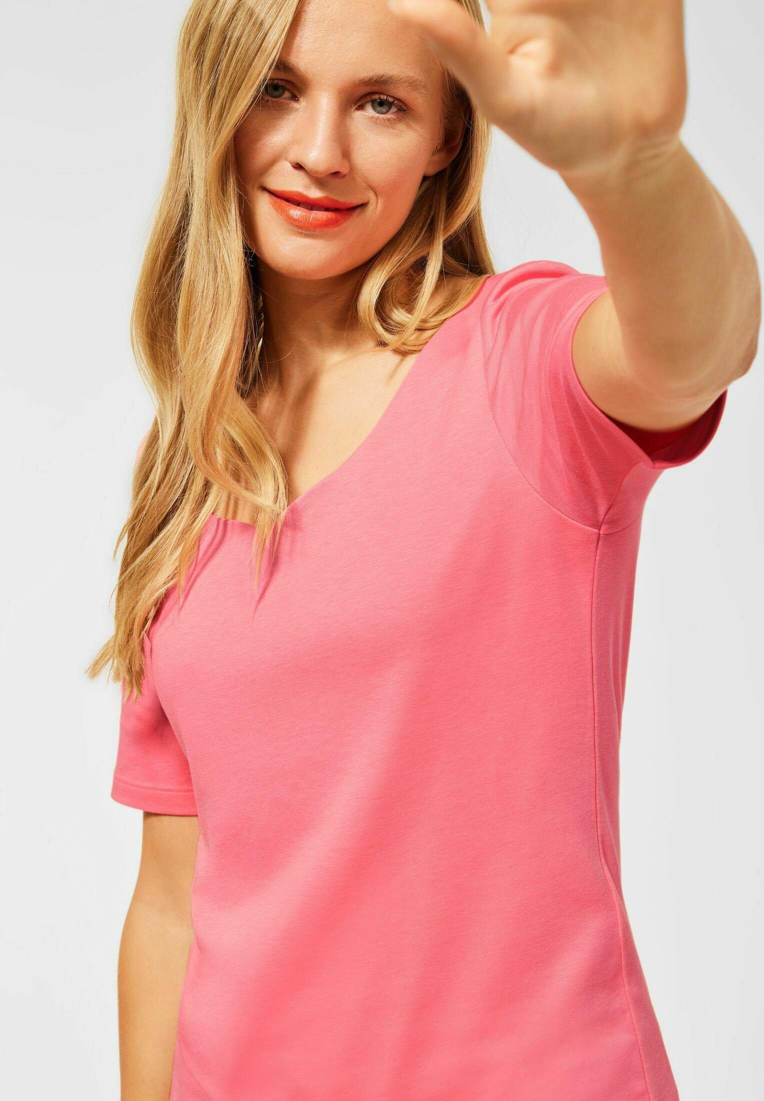 Damen MIT NEUEM AUSSCHNITT - T-Shirt basic