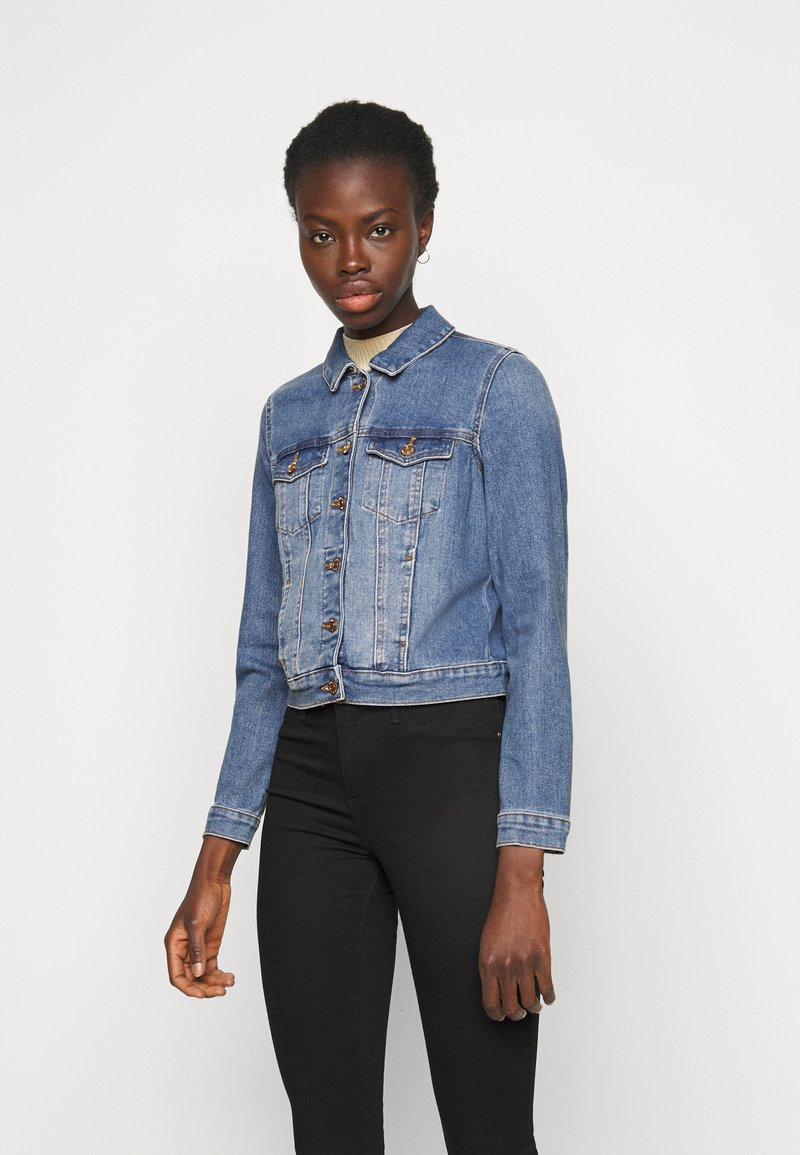 Vero Moda Tall - VMFAITH SLIM JACKET MIX - Džínová bunda - medium blue denim