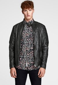 Jack & Jones - Leather jacket - black - 0
