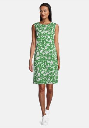 MIT REISSVERSCHLUSS - Day dress - green/cream