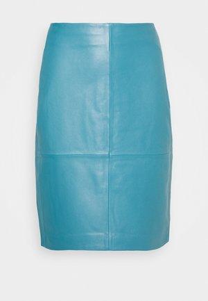 CECILIA - Pouzdrová sukně - petrol