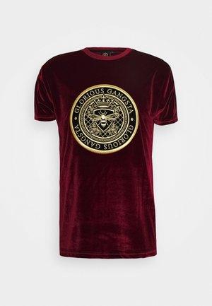 MARENO - T-shirts med print - burgundy