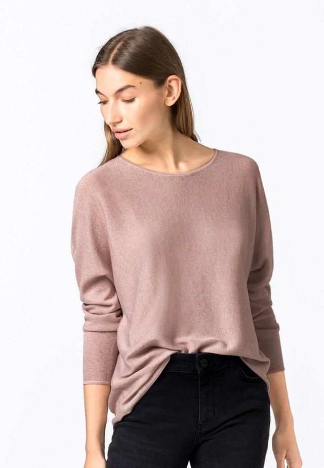 MIT LUREX - Pullover - zartrosa
