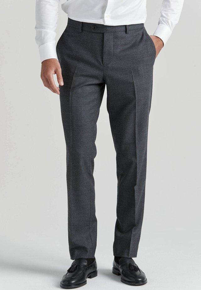 NATHAN  - Kostymbyxor - grey melange