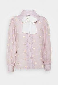 Sister Jane - PICK A PETAL BOW BLOUSE - Button-down blouse - pink - 3