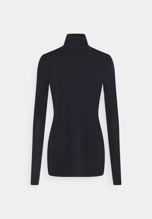 KNIT TURTLENECK - Stickad tröja - navy
