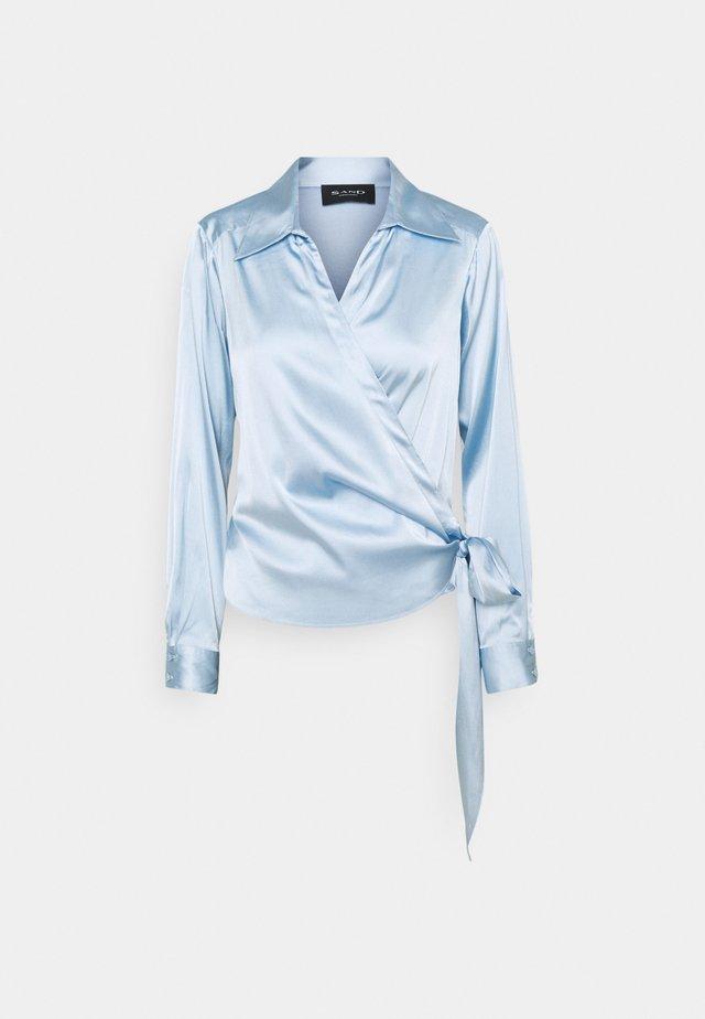 WRAP BLOUSE - Camicetta - light blue