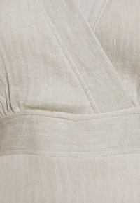 Closet - WRAP KIMONO MINI DRESS - Day dress - grey - 2