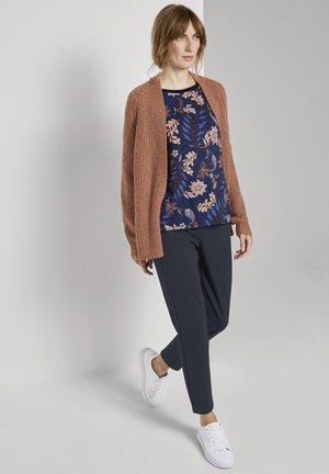MIT BLUMENMUSTER - Sweatshirt - navy floral design