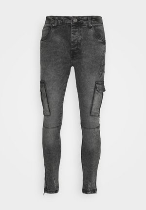 HARRISON - Cargo trousers - charc