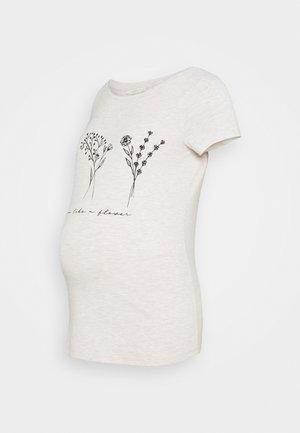 T-shirts med print - oatmeal melange