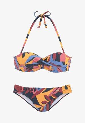 BANDEAU - Bikini - marine-rostrot
