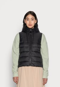Marc O'Polo - RECYCLED VEST FIX HOOD STAND UP COLL - Vesta - black - 0