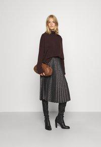 iBlues - DERRIS - A-line skirt - grigio ardesia - 1