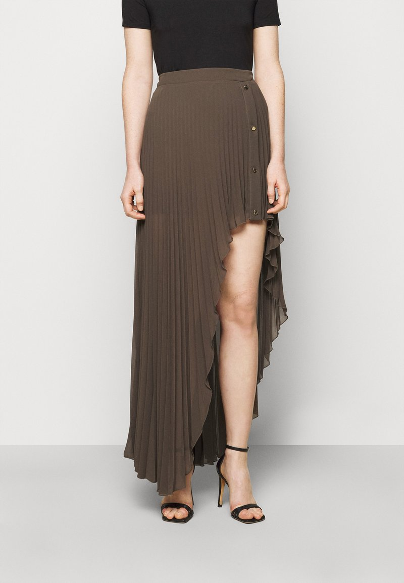 Patrizia Pepe - GONNA SKIRT - Maxi skirt - brown