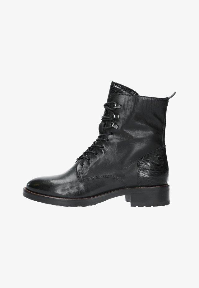 MIT STRUKTUR - Lace-up ankle boots - schwarz