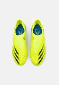 adidas Performance - X GHOSTED.3 LL FG UNISEX - Tekonurmikengät - solar yellow/core black/royal blue - 3