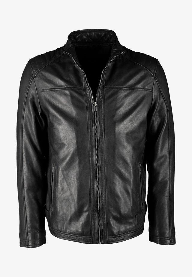 MIT ZWEI INNENTASCHEN DILLAN - Leather jacket - black